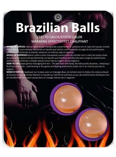 Pack de 2 Boules de Massage Brésiliennes Effet Chauffant
