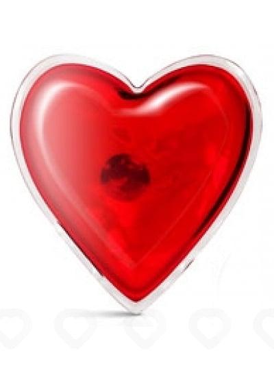 Coeur de Massage Chauffant en Silicone