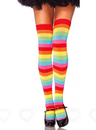 Chaussettes Hautes Sexy Arc-en-Ciel