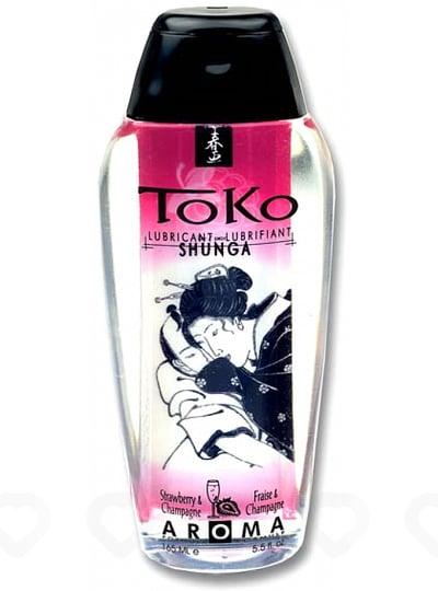 Lubrifiant Parfumé Shunga Toko Aroma 165 ml - Fraise / Vin Pétillant