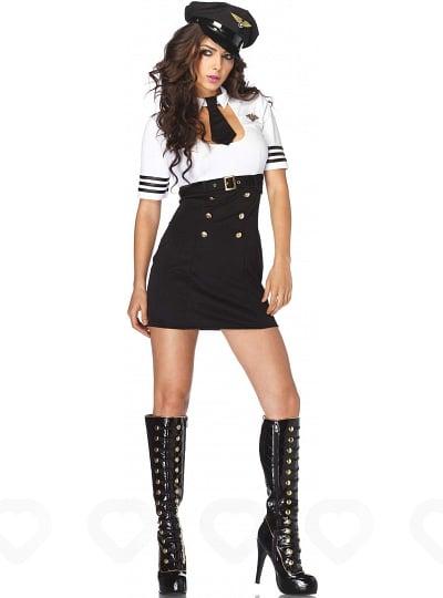 Costume d'Hôtesse de l'Air First Class Captain