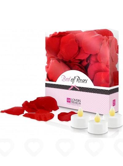 Coffret Pétales de Roses et Bougies