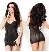 Nuisettes Sexy Nuisette Babydoll Noire CR-3794