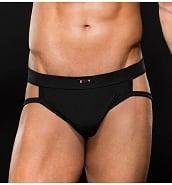 Lingerie Sexy pour Homme Jockstrap Sportif Noir