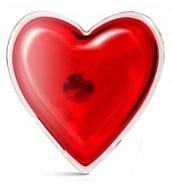 Divers Coeur de Massage Chauffant en Silicone