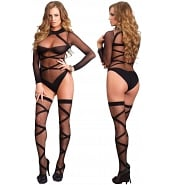 Ensemble de Lingerie Sexy Ensemble Body Fin et Bas Autofixants Assortis