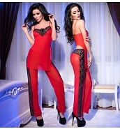Ensemble de Lingerie Sexy Ensemble de Nuit Pantalon et Top Sexy CR-4126