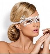 Nouveautés Masque Vénitien en Métal Blanc A703