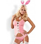 Costume Bunny Rose 3 Pièces